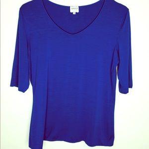 Armani Collezioni Royal Blue 1/2 Sleeve Blouse